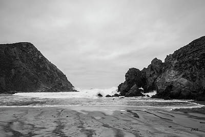 Photograph - Pfeiffer Beach Vi Bw by David Gordon