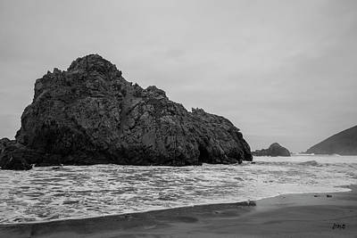 Photograph - Pfeiffer Beach Vii Bw by David Gordon