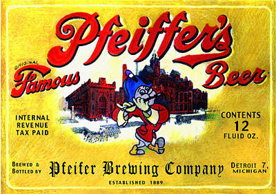 Painting - Pfeiffer's Beer by Don Thibodeaux
