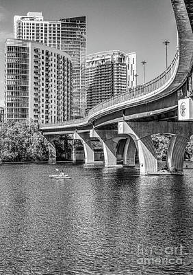 Cities Photograph - Pfluger Bridge In Black And White by Tod and Cynthia Grubbs