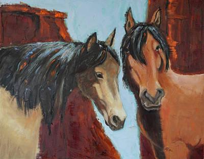 Painting - Pglore_buddies_oil24x30.jpg by Pixie Glore