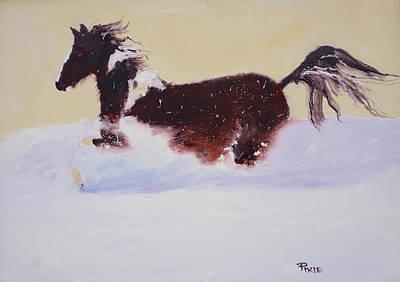 Painting - Pglore_horseplay_oil_16x20.jpg by Pixie Glore