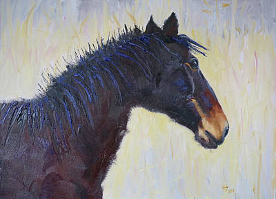 Painting - Pglore_listening Beauty_18x24_oil by Pixie Glore
