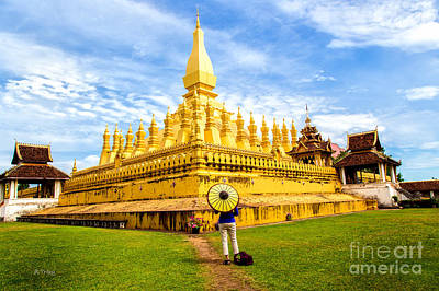 Photograph - Pha That Luang by Rene Triay Photography