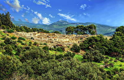 Photograph - Phaistos Archeological Site by Anthony Dezenzio