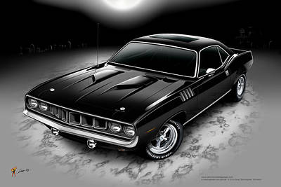 Grave Yard Digital Art - Phantasm 71 Cuda by Doug Schramm