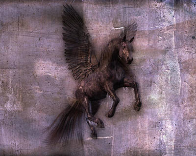 Pegasus Wall Art - Digital Art - Phantom  by Betsy Knapp