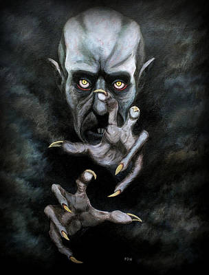 Nosferatu Painting - Phantom Der Nacht by Philip Harvey