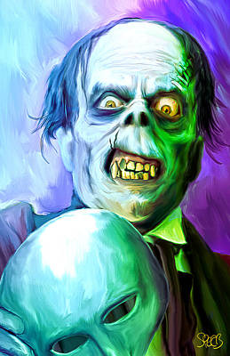 Frankenstein Mixed Media - Phantom Of The Opera Mark Spears Monsters by Mark Spears