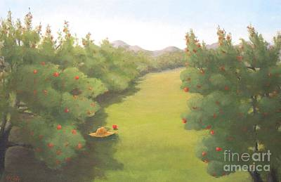 Painting - Phantom Of The Orchard by Phyllis Andrews