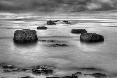 Grey Photograph - Phantom Pier by Ryan Wyckoff