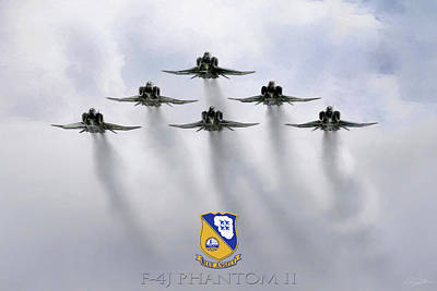 Blue Angels Digital Art - Phantom Power by Peter Chilelli