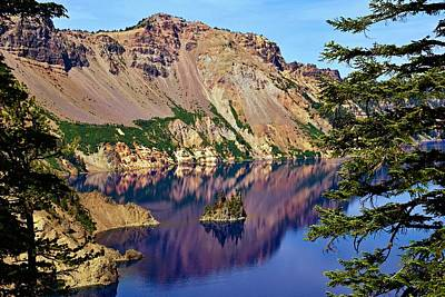 Phantom Ship In Crater Lake Art Print by Michael Courtney