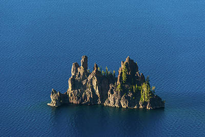 Photograph - Phantom Ship Island Crater Lake National Park Oregon by Lawrence S Richardson Jr