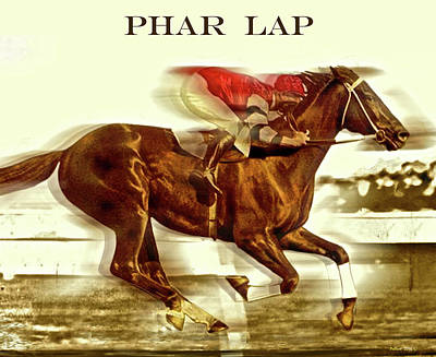 Phar Lap, Aka Wonder Horse, Red Terror, Bobby, Sky Flash, Lightning And Big Red Art Print