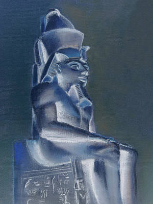 Mixed Media - Pharaoh In Blue by Elizabeth Lock