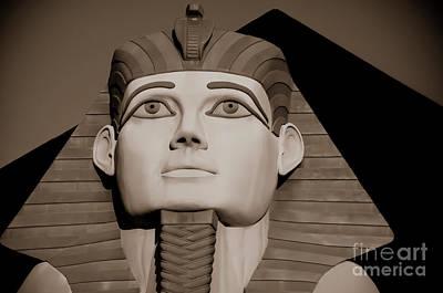 Pharaohs And Pyramids Art Print by Charles Dobbs