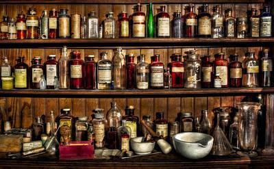 Apothecary Photograph - Pharmaceuticals by Susan Candelario