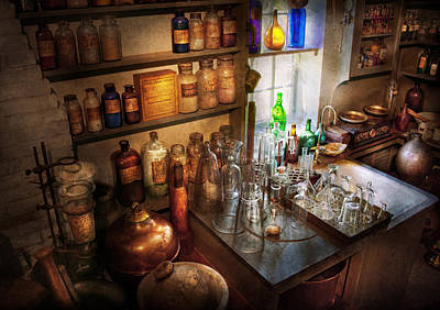 Photograph - Pharmacist - A Little Bit Of Witch Craft by Mike Savad