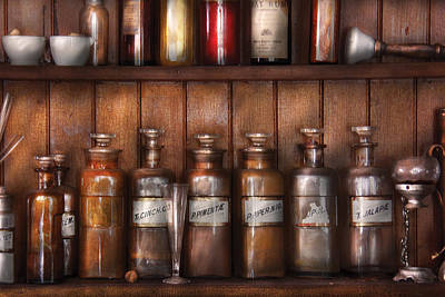 Pharmaceutical Photograph - Pharmacist - In A Pharmacists Lab  by Mike Savad