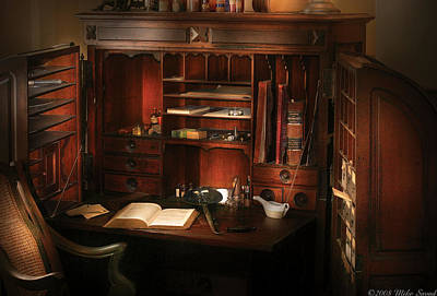 Pharmacist - The Pharmacists Desk Print by Mike Savad