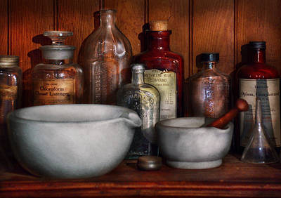 Mortar Photograph - Pharmacist - Medicine For Coughing by Mike Savad