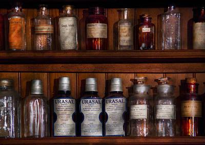 Pharmacy - Bonafide Cures Art Print by Mike Savad
