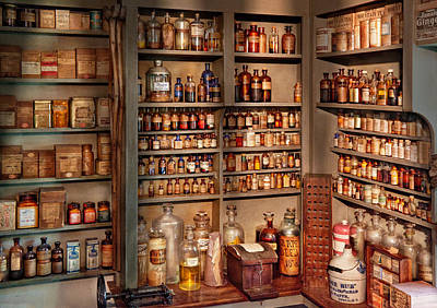 Pharmacy - Get Me That Bottle On The Second Shelf Art Print by Mike Savad