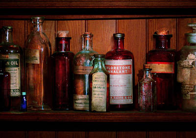 Pharmacy -  Oils And Inhalants Art Print by Mike Savad
