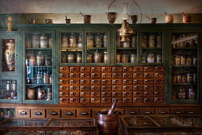 Gift For A Photograph - Pharmacy - Right Behind The Counter by Mike Savad