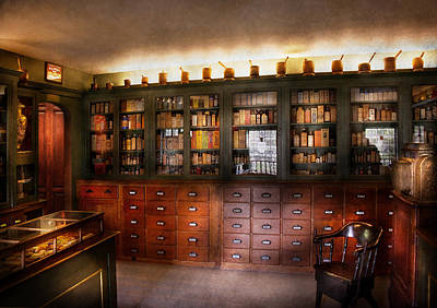 Mikesavad Photograph - Pharmacy - The Apothecary Shop by Mike Savad