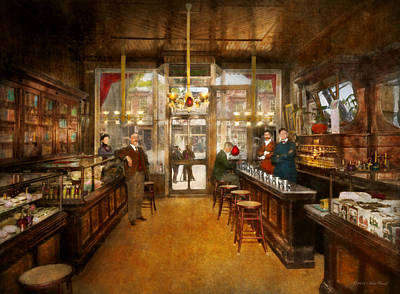 Photograph - Pharmacy - Congdon's Pharmacy 1910 by Mike Savad