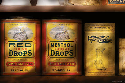 Pharmacy - Cough Drops Art Print by Mike Savad