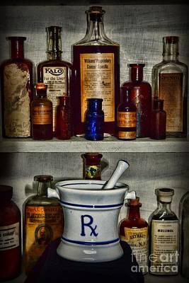 Medical Photograph - Pharmacy - Stocked Shelves by Paul Ward