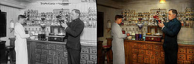 Photograph - Pharmacy - The Mixologist 1905 - Side By Side by Mike Savad