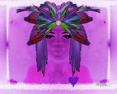Digital Art - Pharo Healer #084 by Barbara Tristan