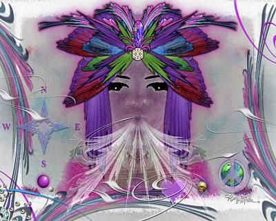 Digital Art - Pharo Of Peace #083 by Barbara Tristan