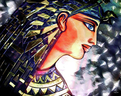 Mixed Media - Pharoah Of Egypt by Pennie  McCracken