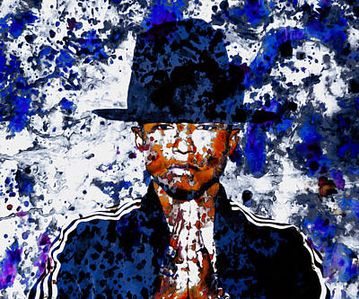 Pharrell Williams 3c Art Print by Brian Reaves