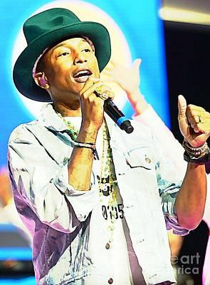 Grammy Winners Painting - Pharrell Williams by John Malone