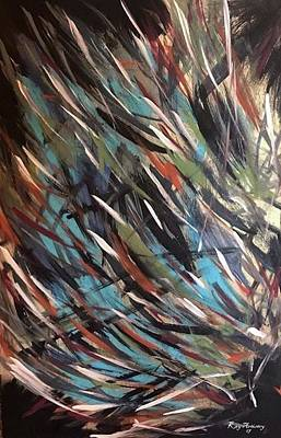 Blue Painting - Phases by Key Artistry