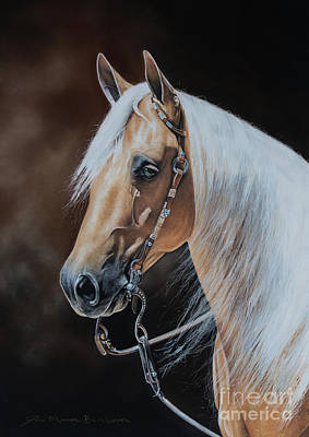 Palomino Horse Pastel - Phba by Joni Beinborn