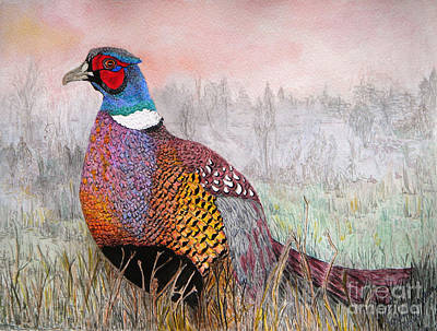 Painting - Pheasant Dawn by Yvonne Johnstone
