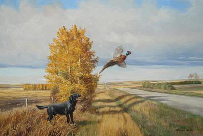 Pheasant Flush Art Print by Norman Kelly