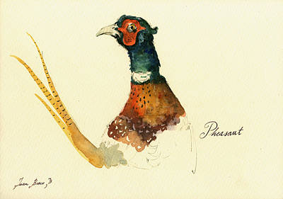 Pheasant Painting Art Print by Juan  Bosco