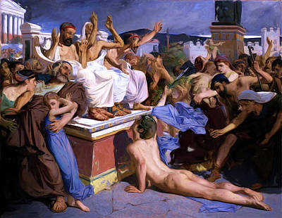 Painting - Pheidippides, The Soldier Of Marathon by Troy Caperton