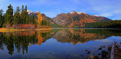 Photograph - Phelps Lake Panoramic Reflections by Greg Norrell