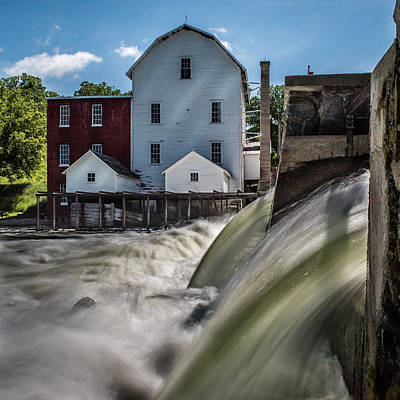 Milling Machine Photograph - Phelps Mill Falls by Paul Freidlund