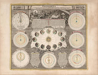 Drawings Royalty Free Images - Phenomena - Planetary Systems - Celestial Models - Celestial Charts - Illustrated Atlas Royalty-Free Image by Studio Grafiikka
