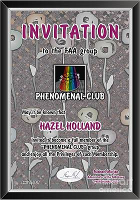 Painting - Phenomenal Club Invitation by Hazel Holland